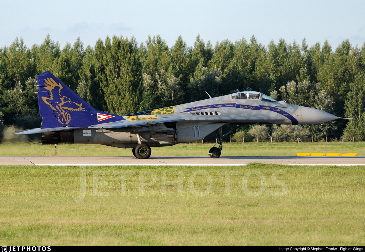 11 - Mikoyan-Gurevich MiG-29A Fulcrum - Hungary - Air Force