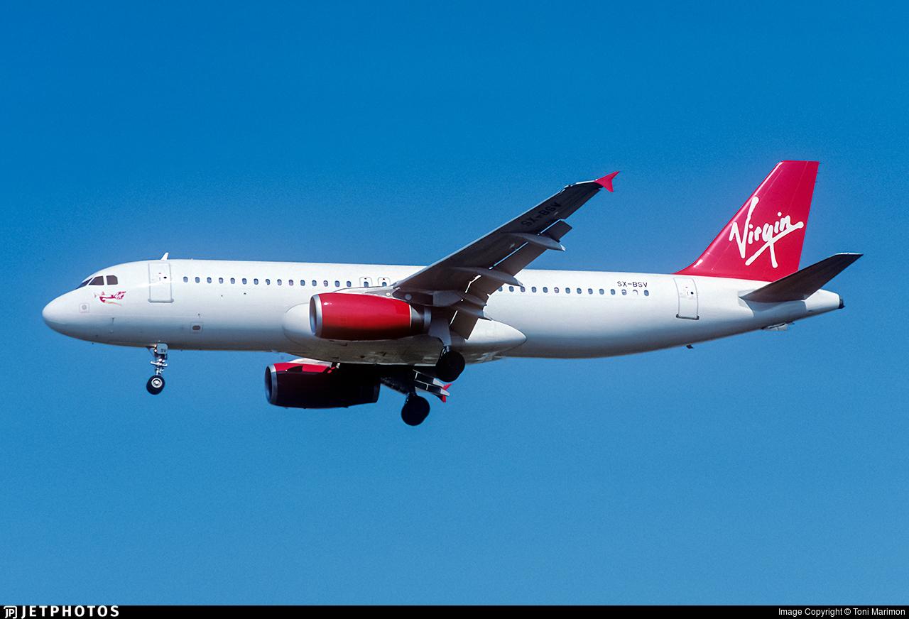 SX-BSV - Airbus A320-231 - Virgin Atlantic Airways
