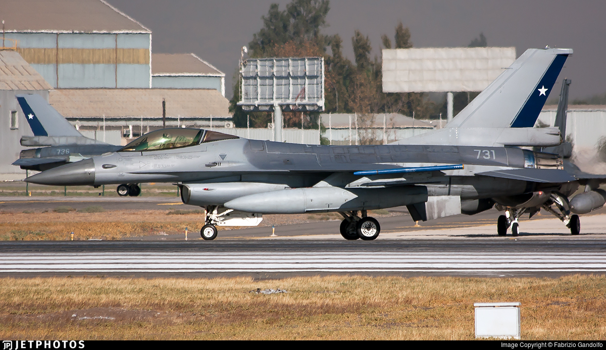 731 - General Dynamics F-16AM Fighting Falcon - Chile - Air Force
