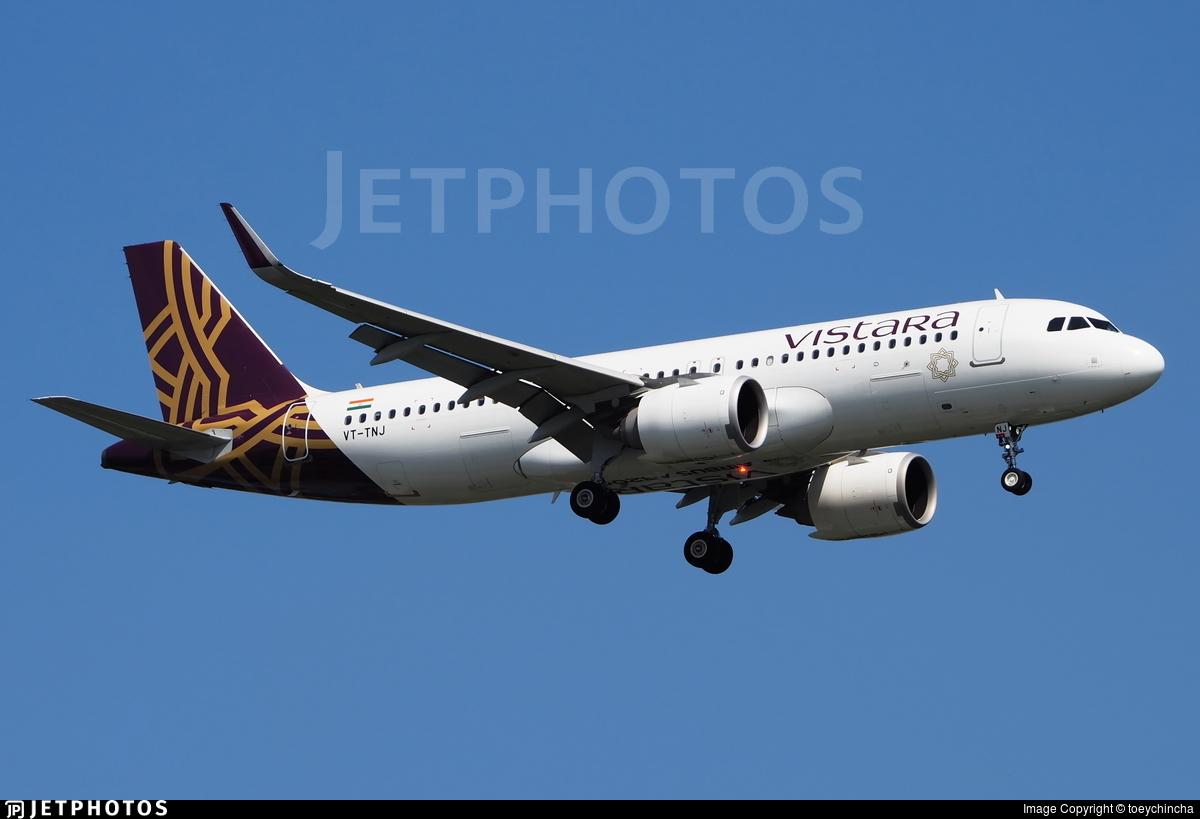 VT-TNJ - Airbus A320-251N - Vistara