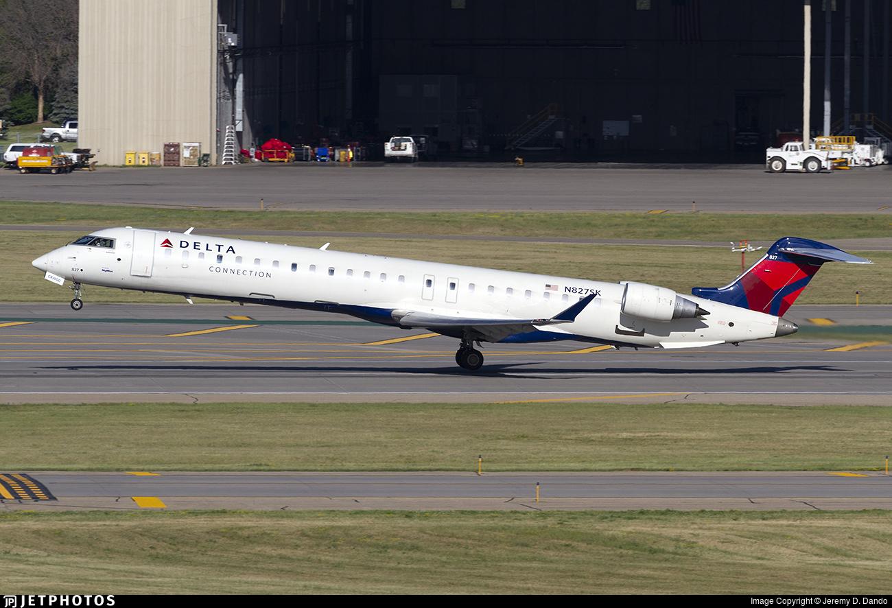 N827SK - Bombardier CRJ-900LR - Delta Connection (SkyWest Airlines)