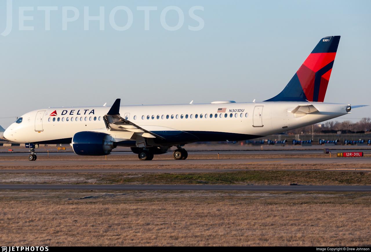 N301DU - Airbus A220-371 - Delta Air Lines