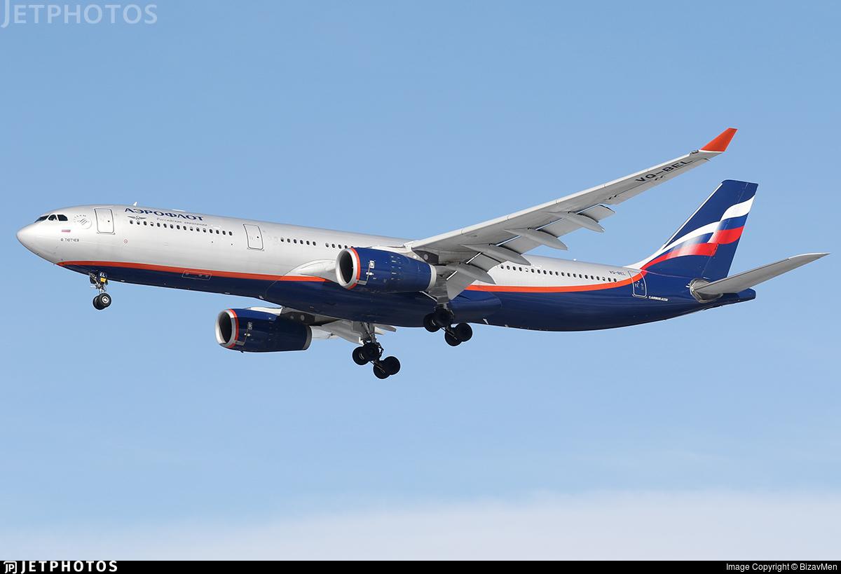 VQ-BEL - Airbus A330-343 - Aeroflot