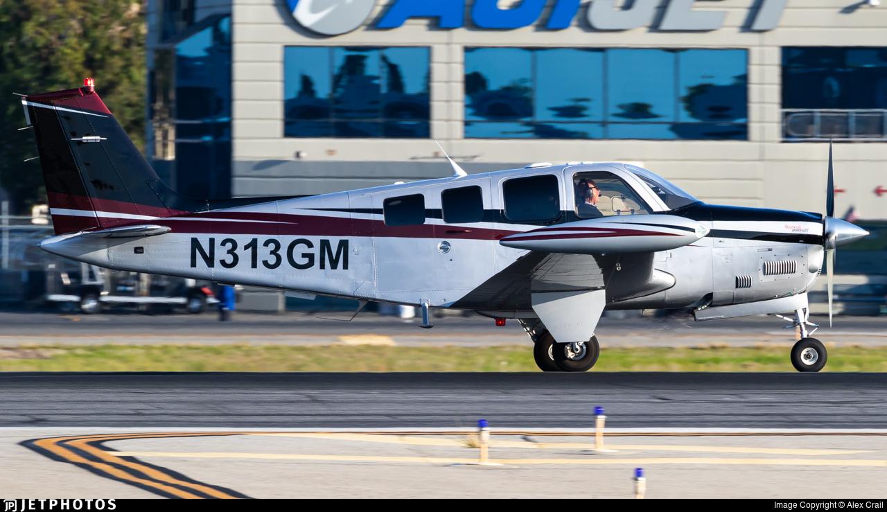 N313GM - Beechcraft G36 Bonanza - Private