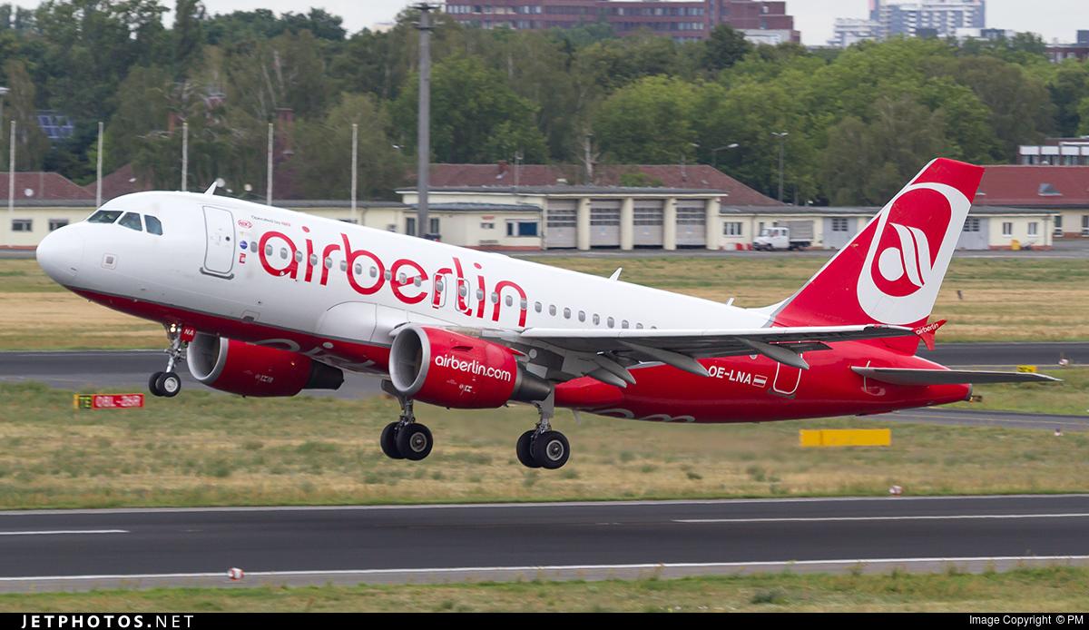 OE-LNA - Airbus A319-112 - Air Berlin (Niki)