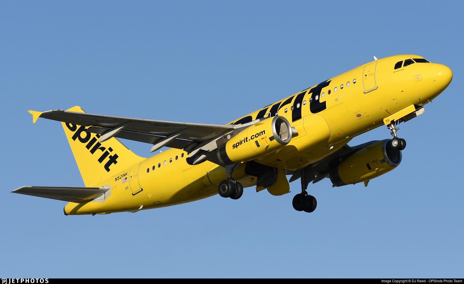 N521NK - Airbus A319-132 - Spirit Airlines