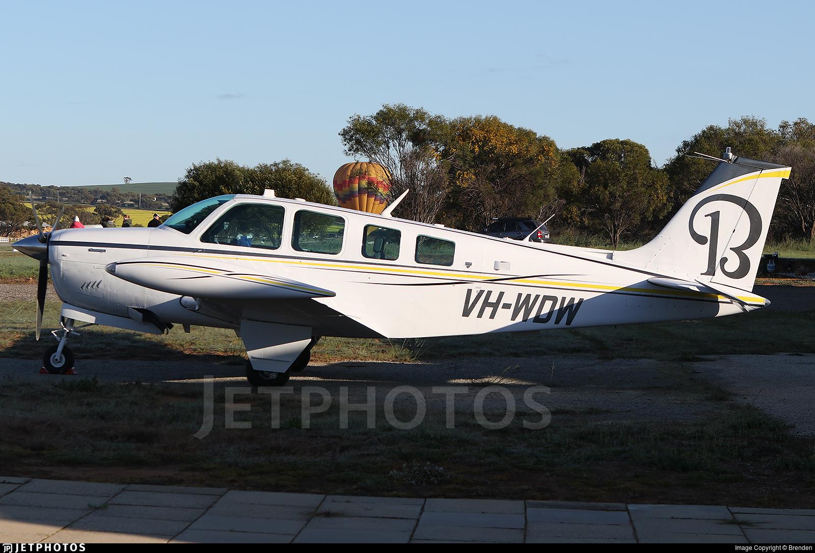 VH-WDW - Beechcraft A36 Bonanza - Private
