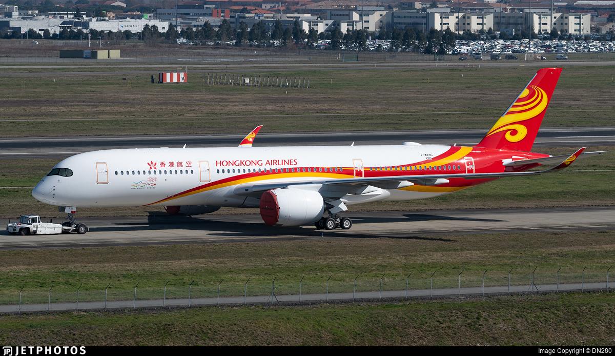 F-WZNC - Airbus A350-941 - Hong Kong Airlines
