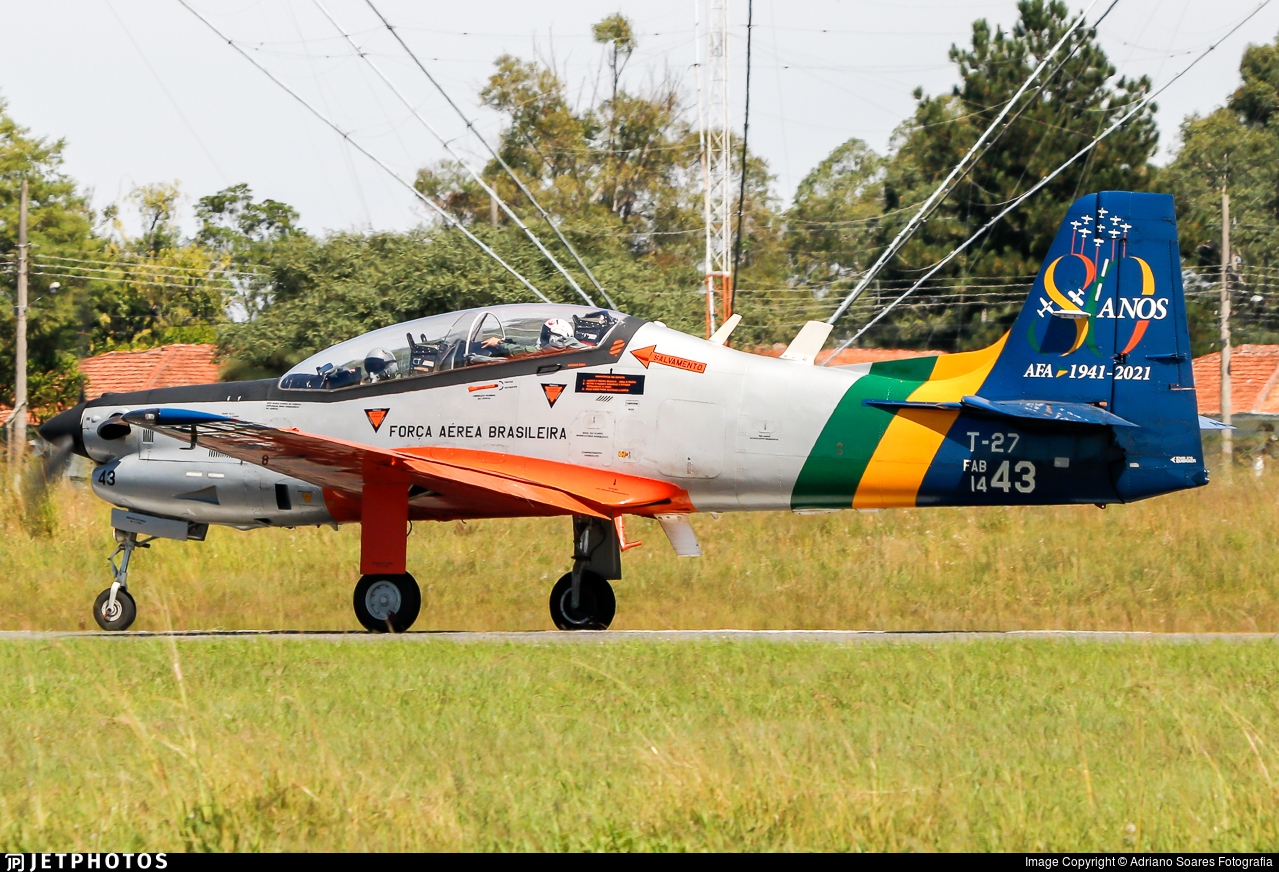 FAB1443 - Embraer T-27 Tucano - Brazil - Air Force