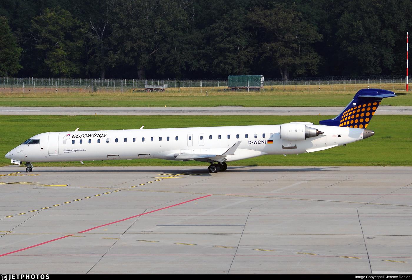 D-ACNI - Bombardier CRJ-900LR - Eurowings