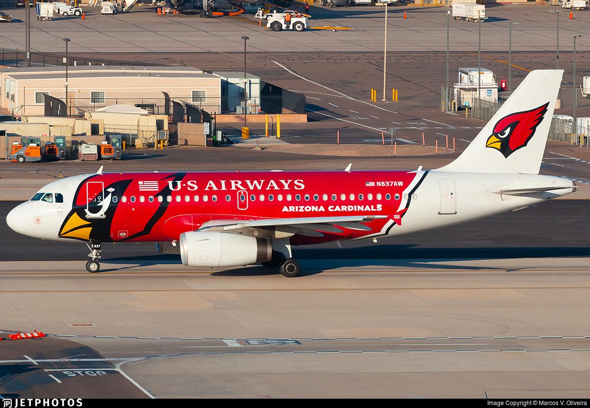 N837AW - Airbus A319-132 - US Airways