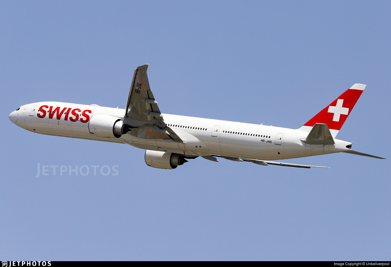 HB-JNK - Boeing 777-3DEER - Swiss