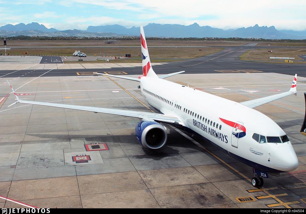 ZS-ZCA - Boeing 737-8 MAX - British Airways (Comair)