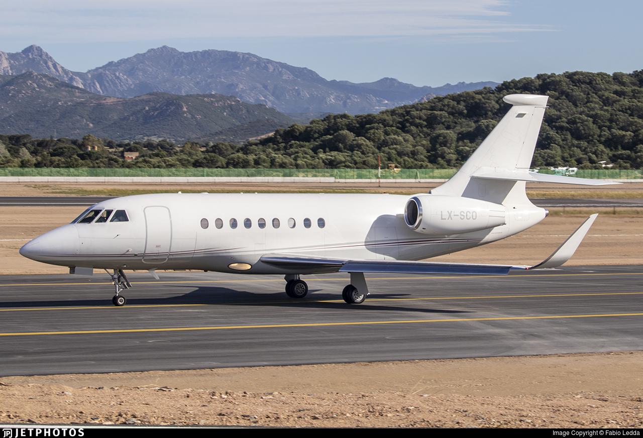 LX-SCO - Dassault Falcon 2000LX - Private