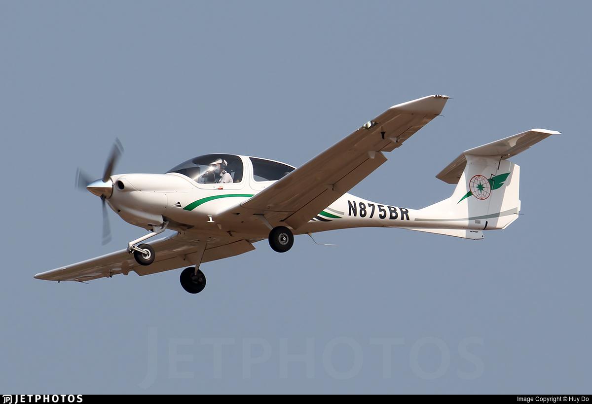 N875BR - Diamond DA-40 Diamond Star - EVA Flight Training Academy