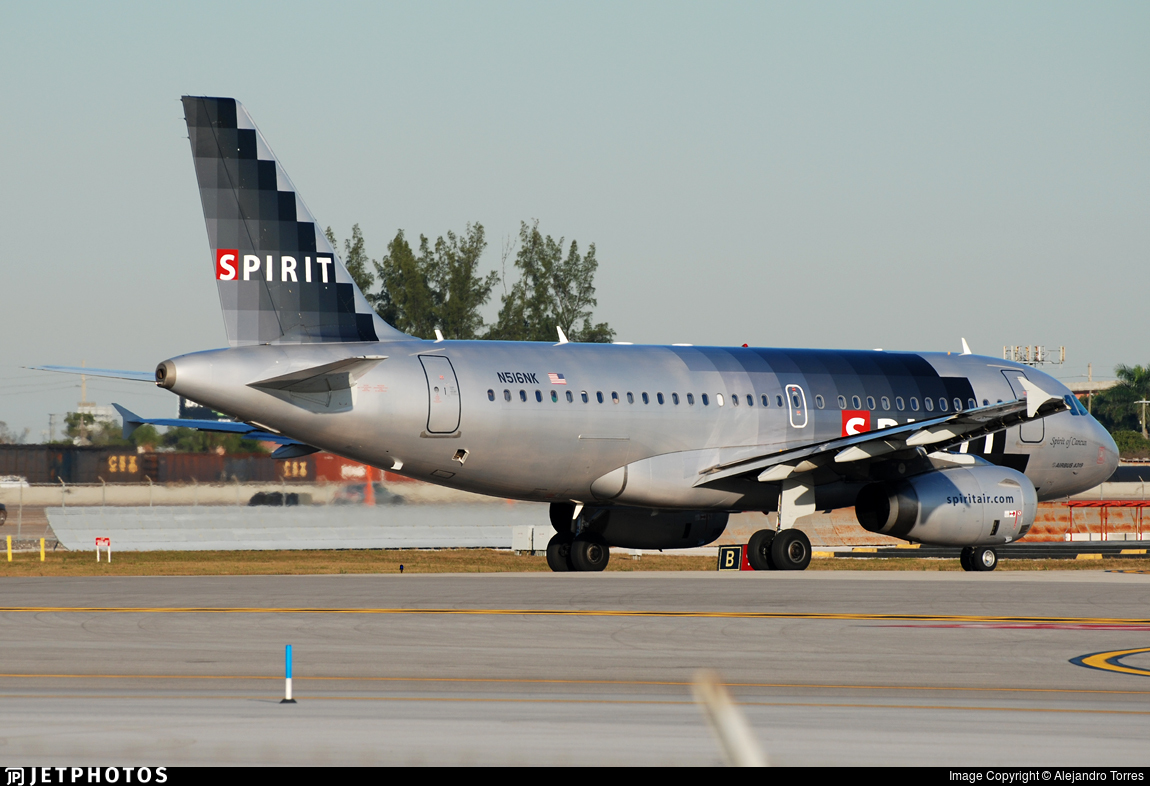 N516NK - Airbus A319-132 - Spirit Airlines