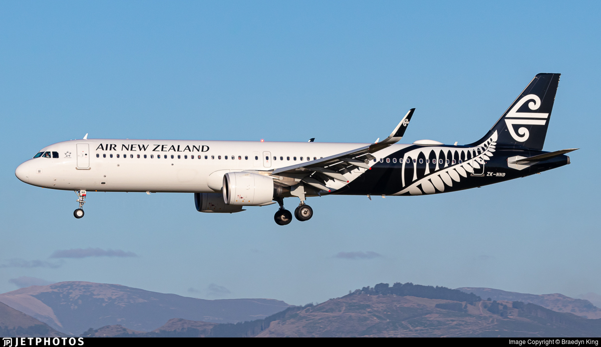 ZK-NNB - Airbus A321-271NX - Air New Zealand