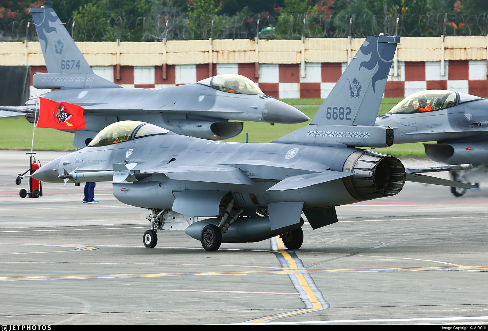 6682 - General Dynamics F-16AM Fighting Falcon - Taiwan - Air Force