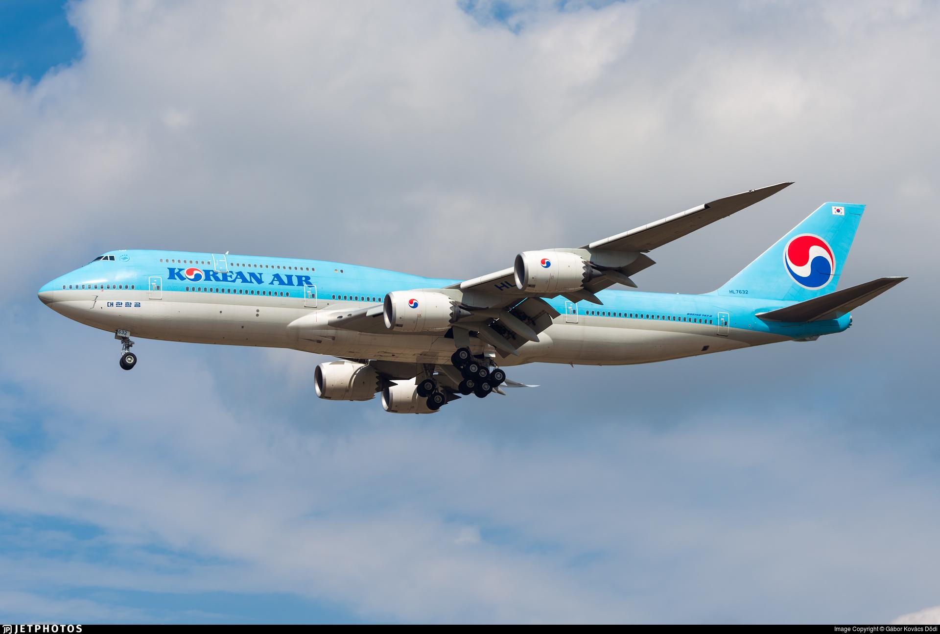HL7632 - Boeing 747-8B5 - Korean Air