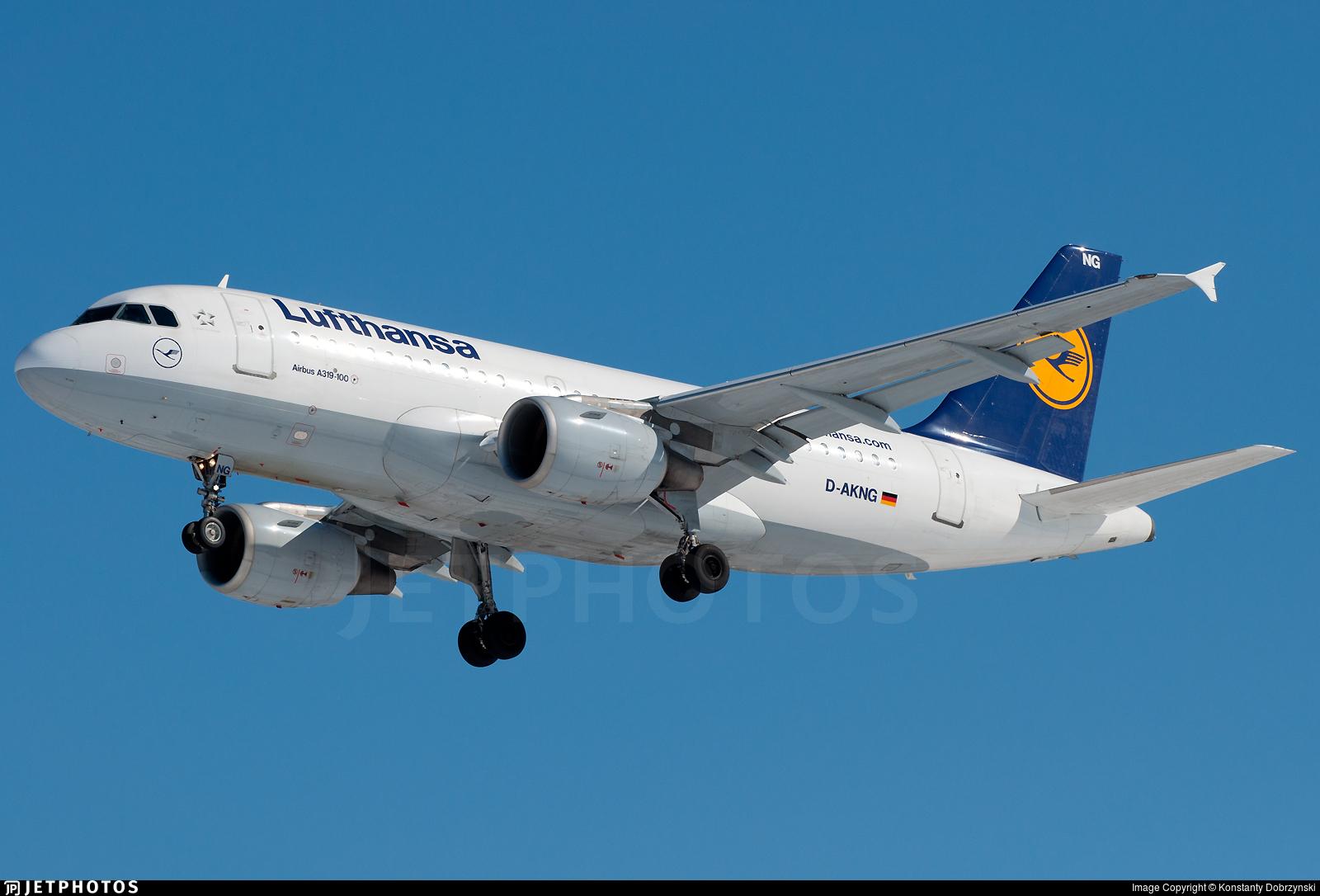 D-AKNG - Airbus A319-112 - Lufthansa