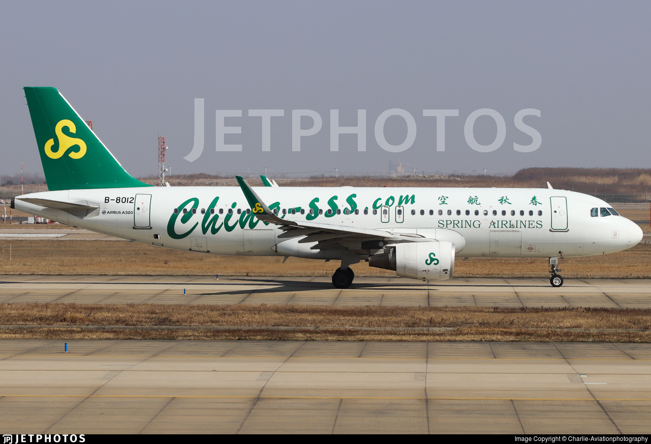 B-8012 - Airbus A320-214 - Spring Airlines
