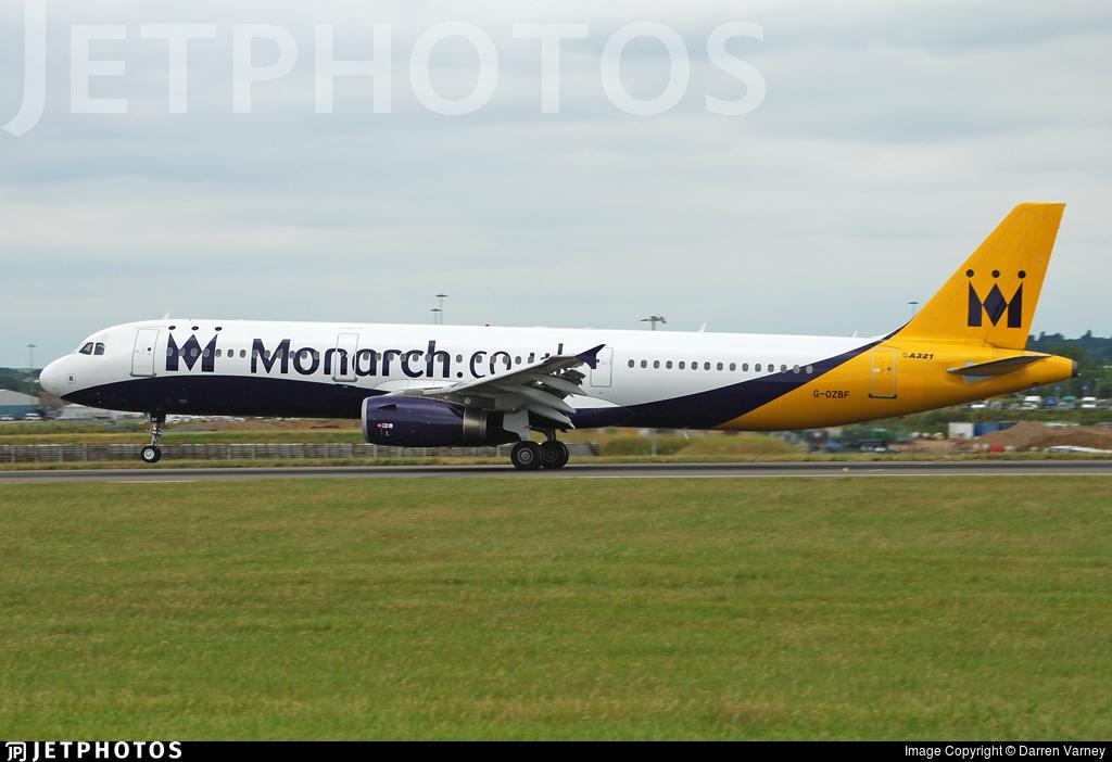 G-OZBF - Airbus A321-231 - Monarch Airlines