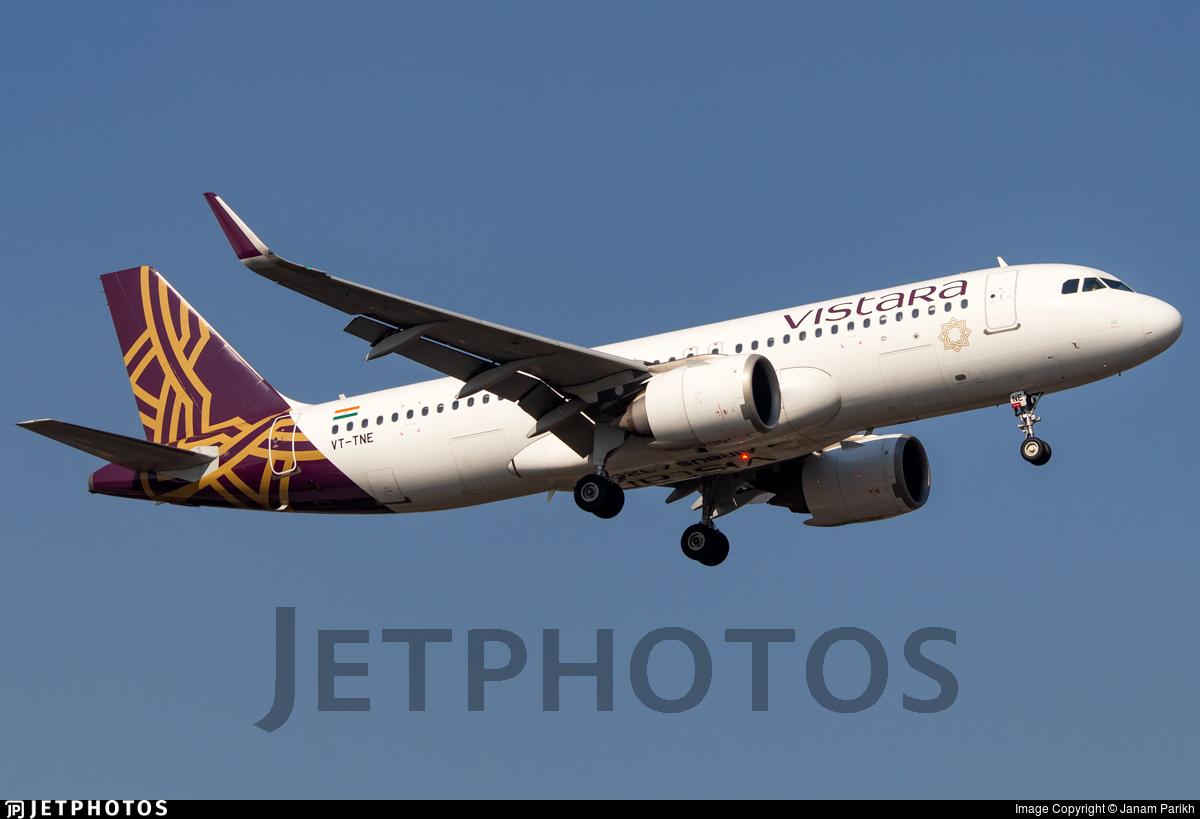 VT-TNE - Airbus A320-251N - Vistara