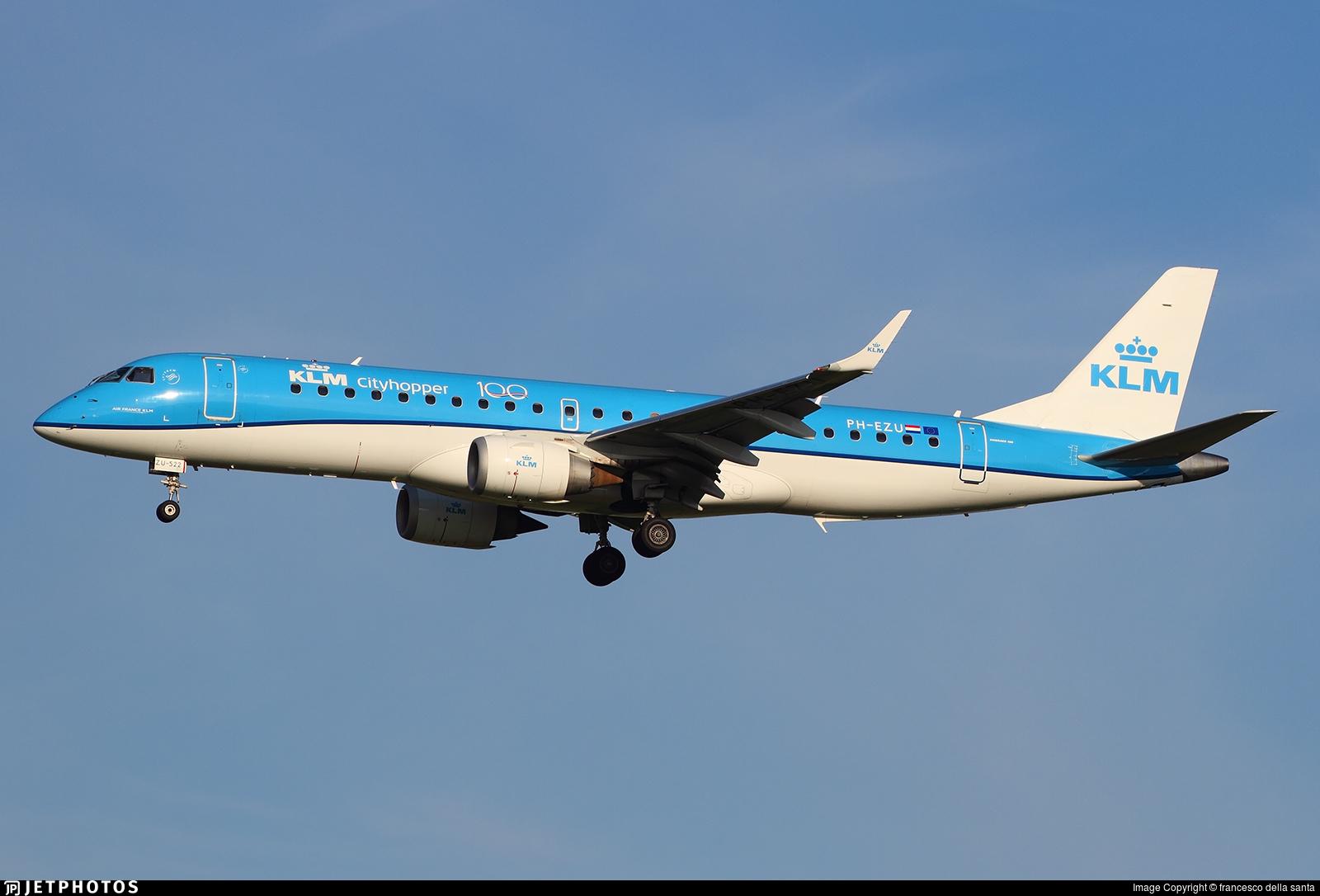PH-EZU - Embraer 190-100STD - KLM Cityhopper