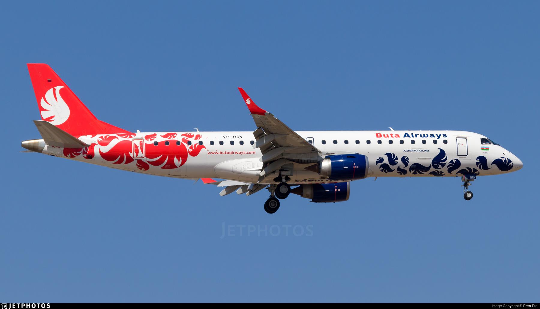 VP-BRV - Embraer 190-100IGW - Buta Airways