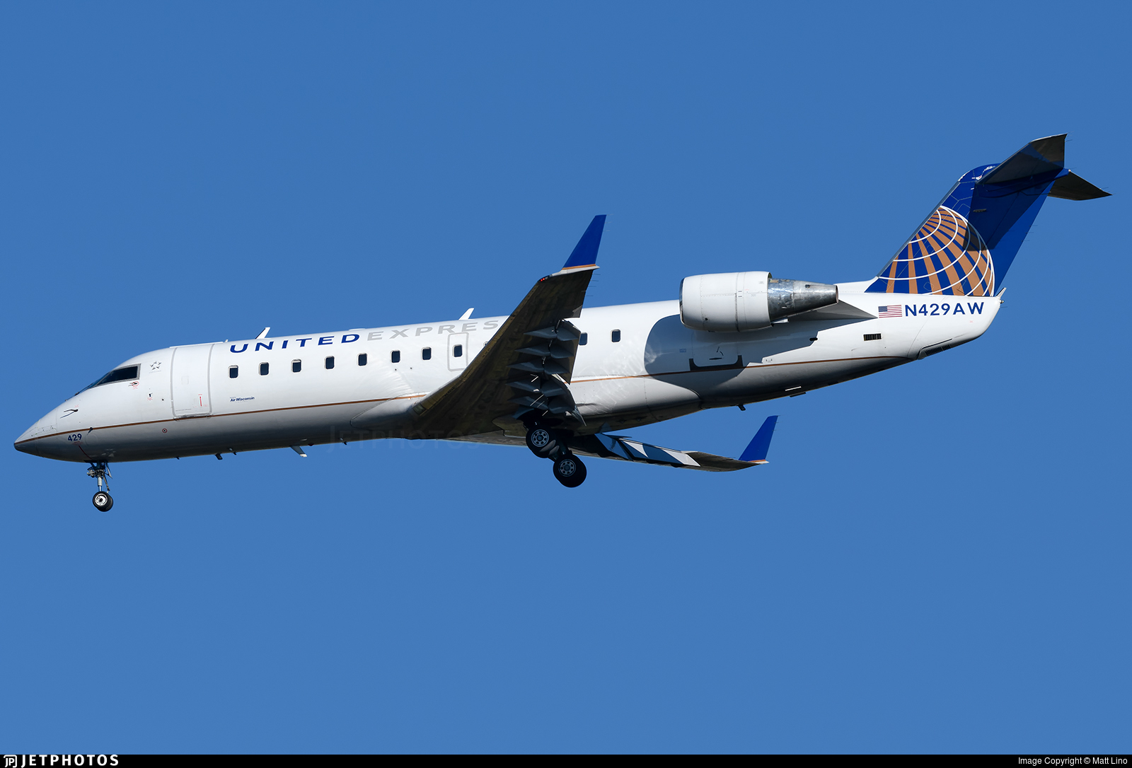 N429AW - Bombardier CRJ-200LR - United Express (Air Wisconsin)