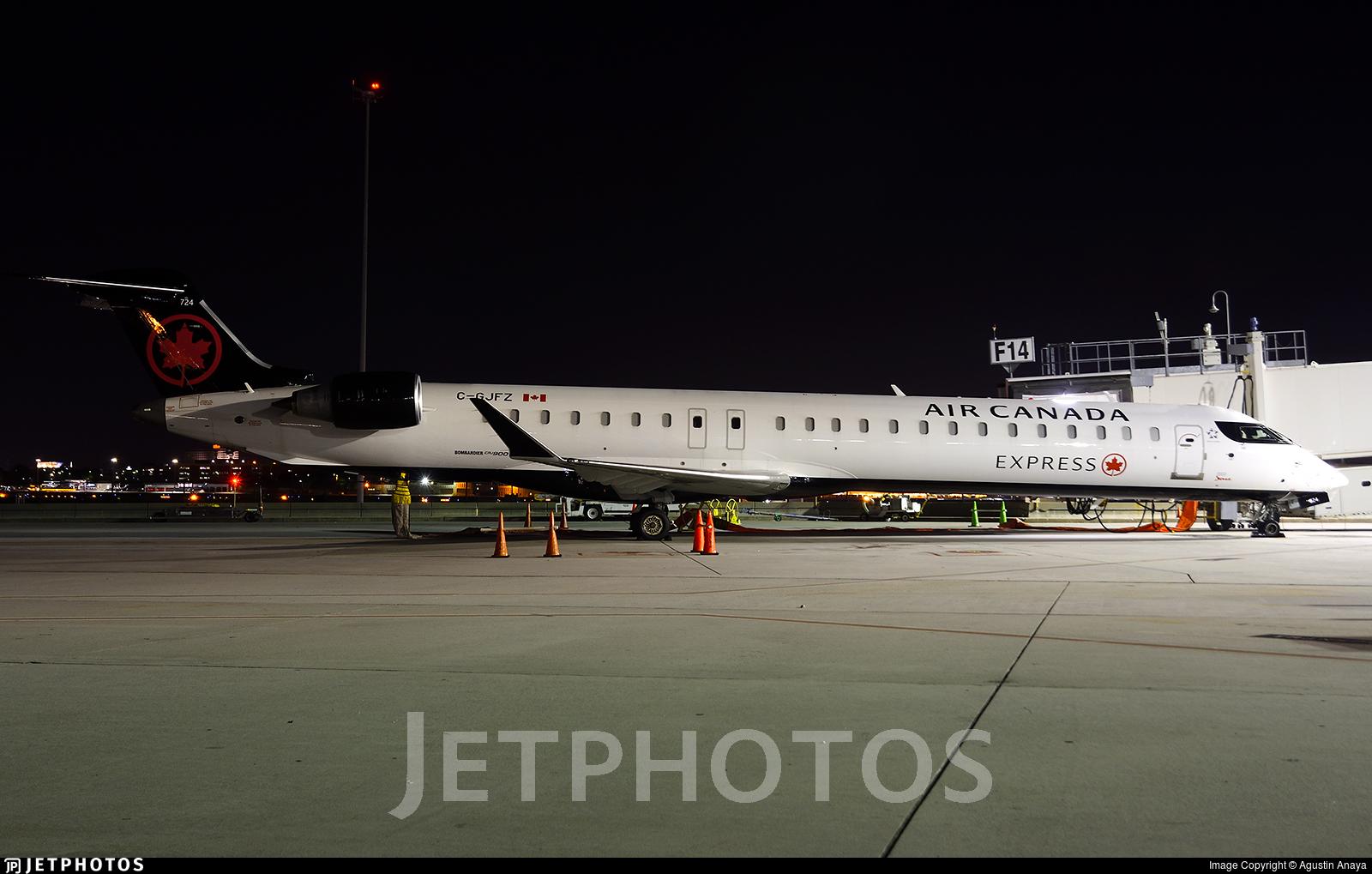 C-GJFZ - Bombardier CRJ-900LR - Air Canada Express (Jazz Aviation)