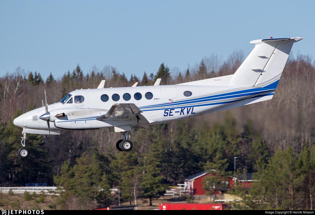 SE-KVL - Beechcraft B200 Super King Air - Jonair