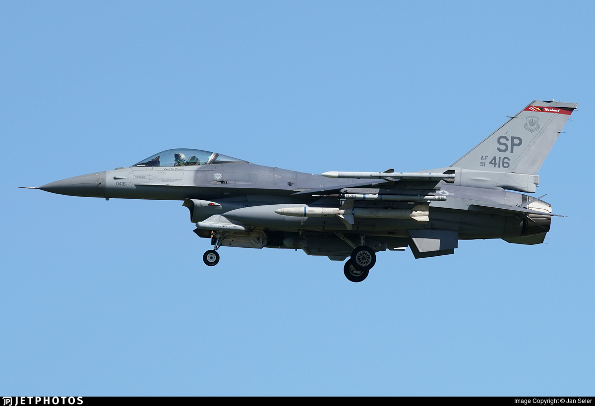 91-0416 - General Dynamics F-16CM Fighting Falcon - United States - US Air Force (USAF)