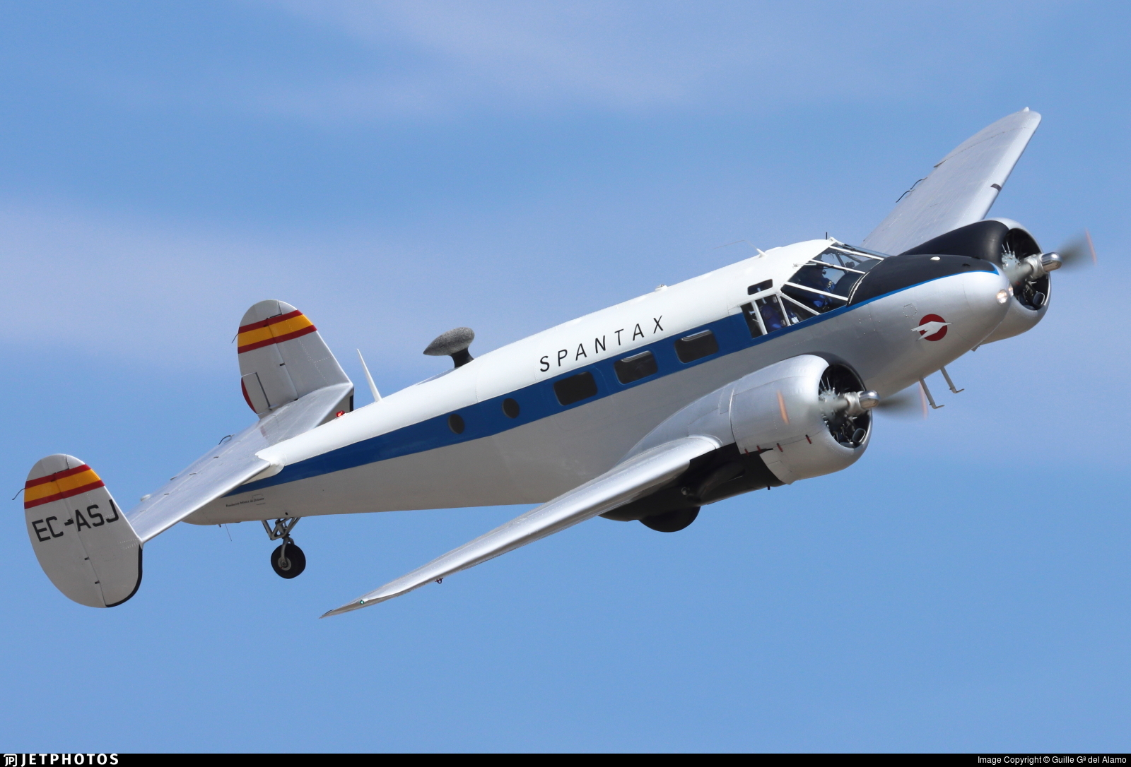 EC-ASJ - Beechcraft 18 - Spantax