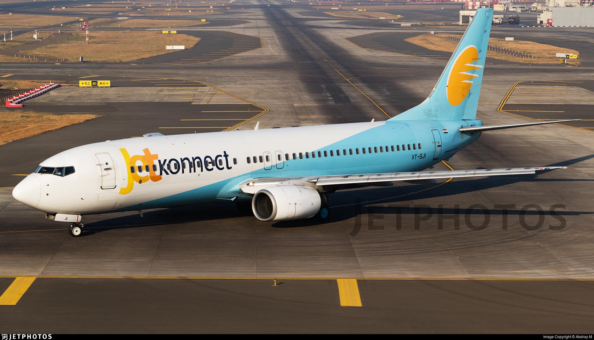 VT-SJI - Boeing 737-8K9 - Jet Konnect