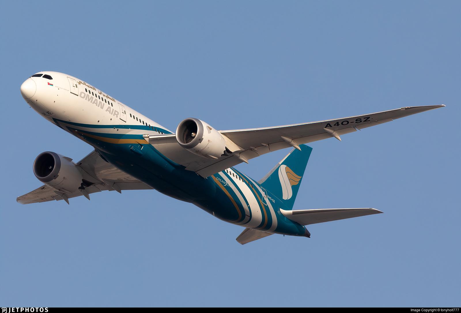 A4O-SZ - Boeing 787-8 Dreamliner - Oman Air