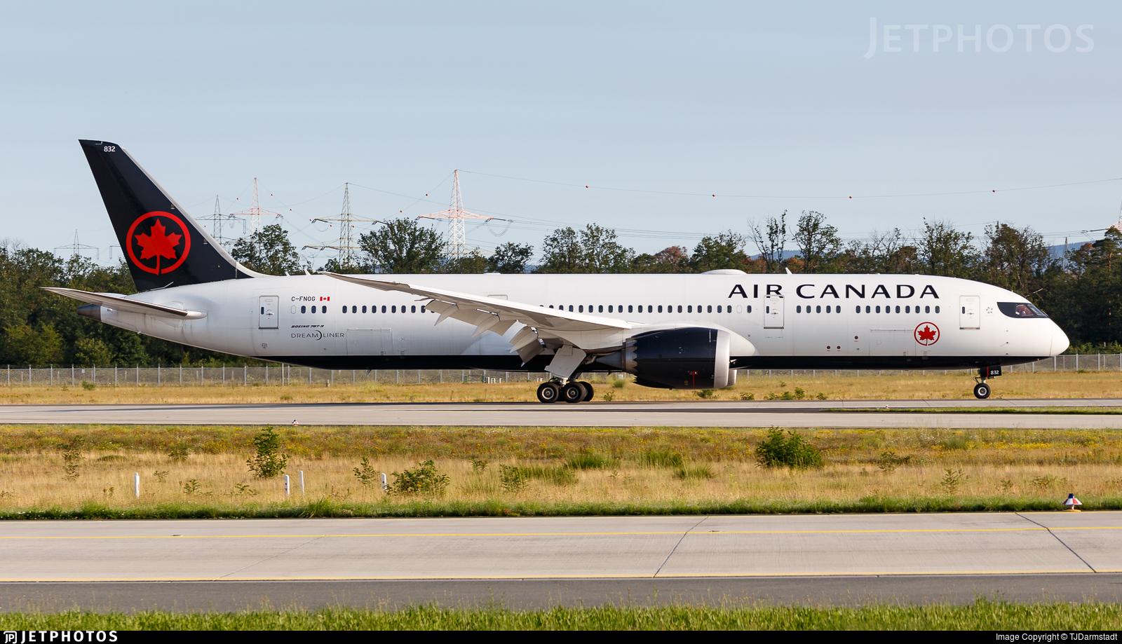 C-FNOG - Boeing 787-9 Dreamliner - Air Canada