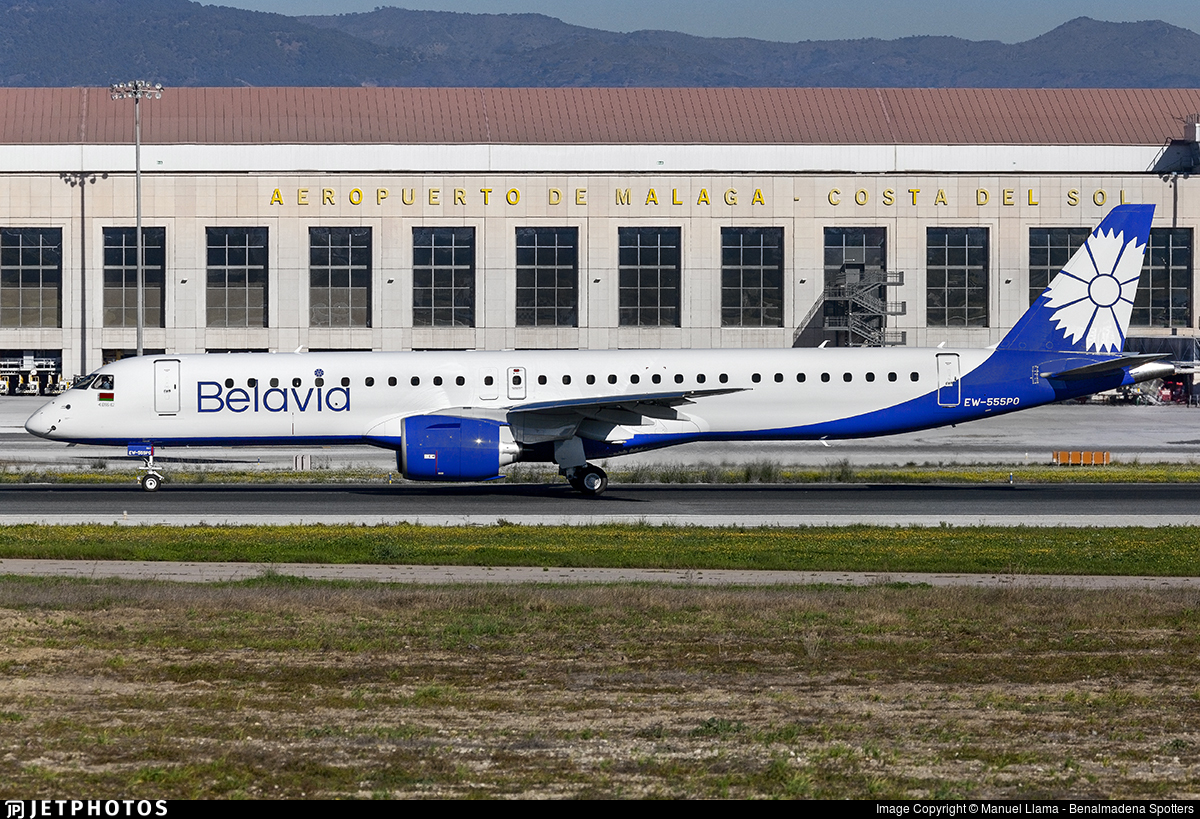 EW-555PO - Embraer 190-400STD - Belavia Belarusian Airlines