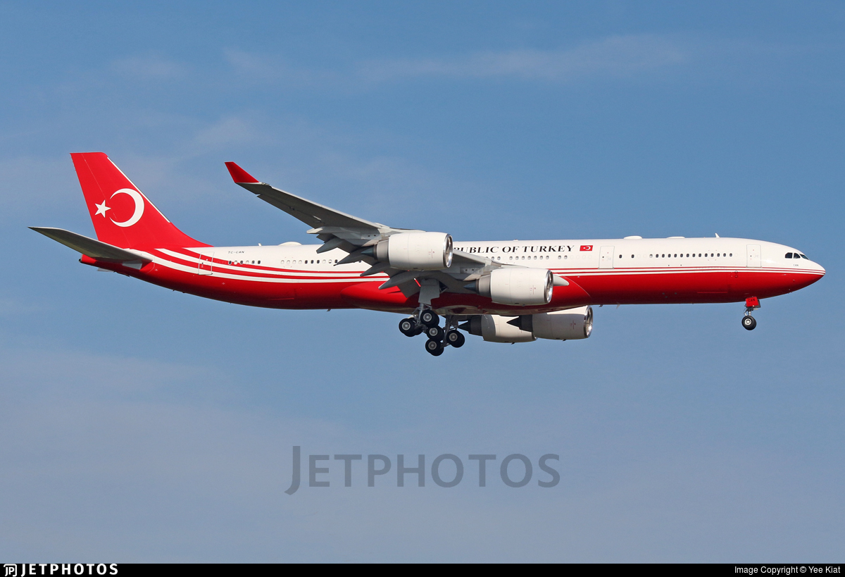 TC-CAN - Airbus A340-542 - Turkey - Government
