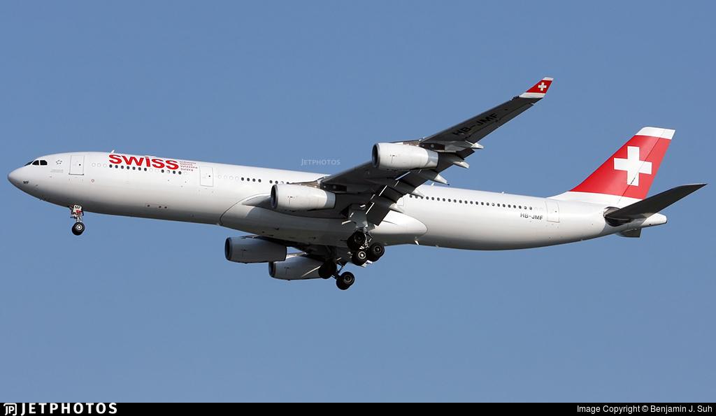 HB-JMF - Airbus A340-313X - Swiss