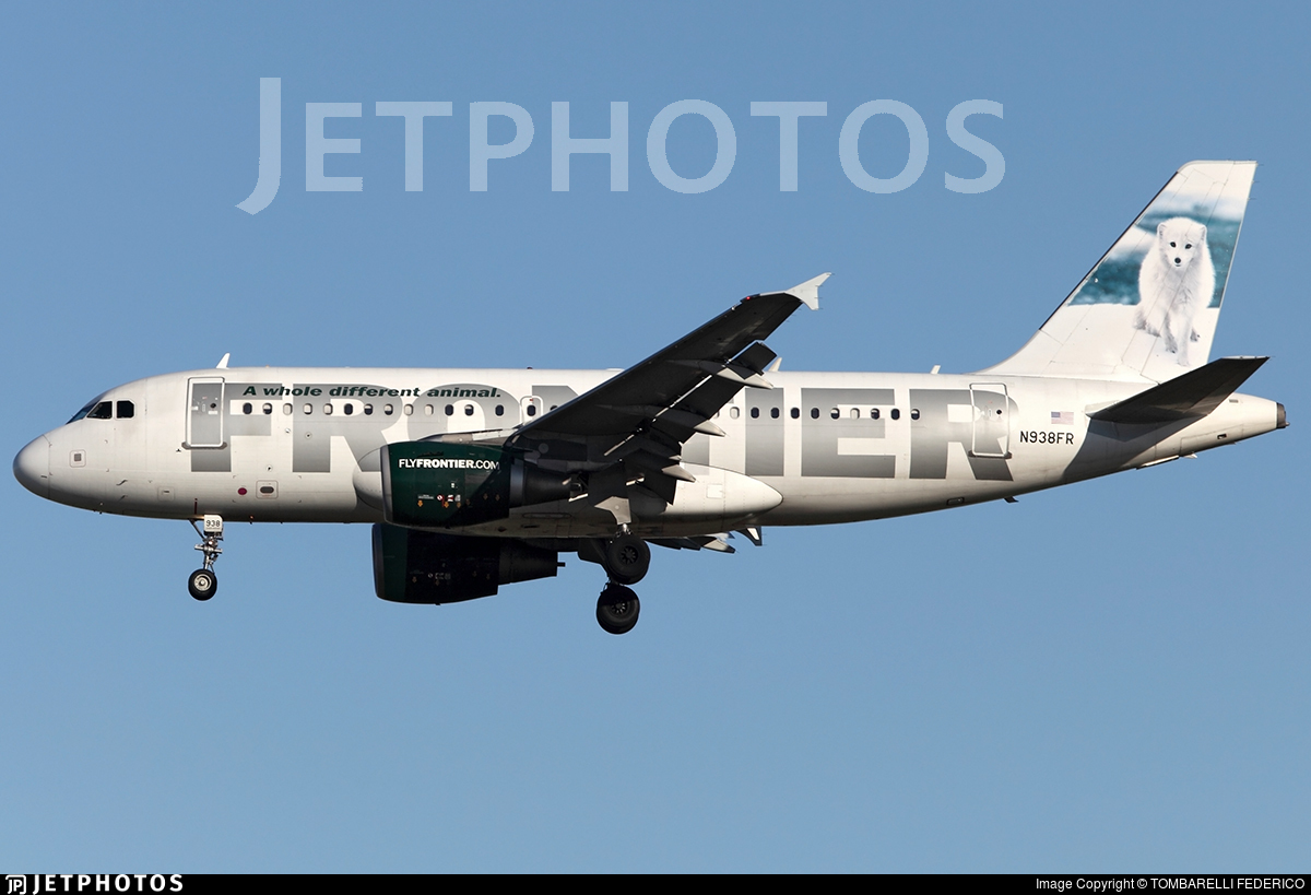 N938FR - Airbus A319-112 - Frontier Airlines