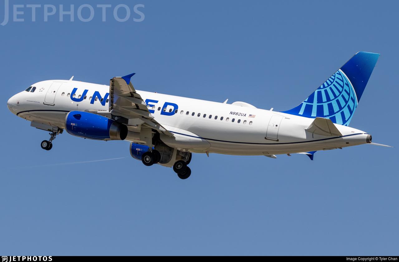 N882UA - Airbus A319-132 - United Airlines