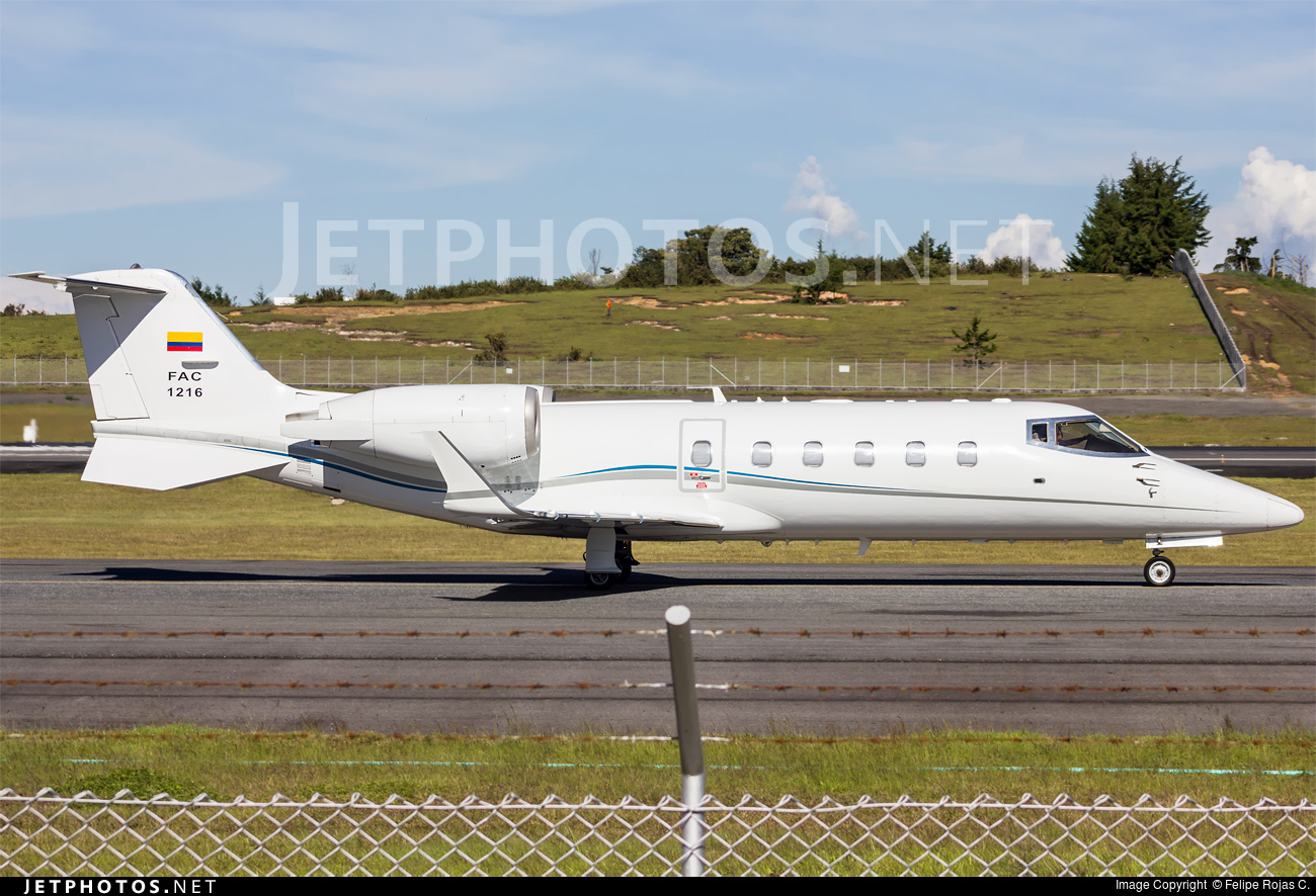 FAC1216 - Bombardier Learjet 60 - Colombia - Air Force