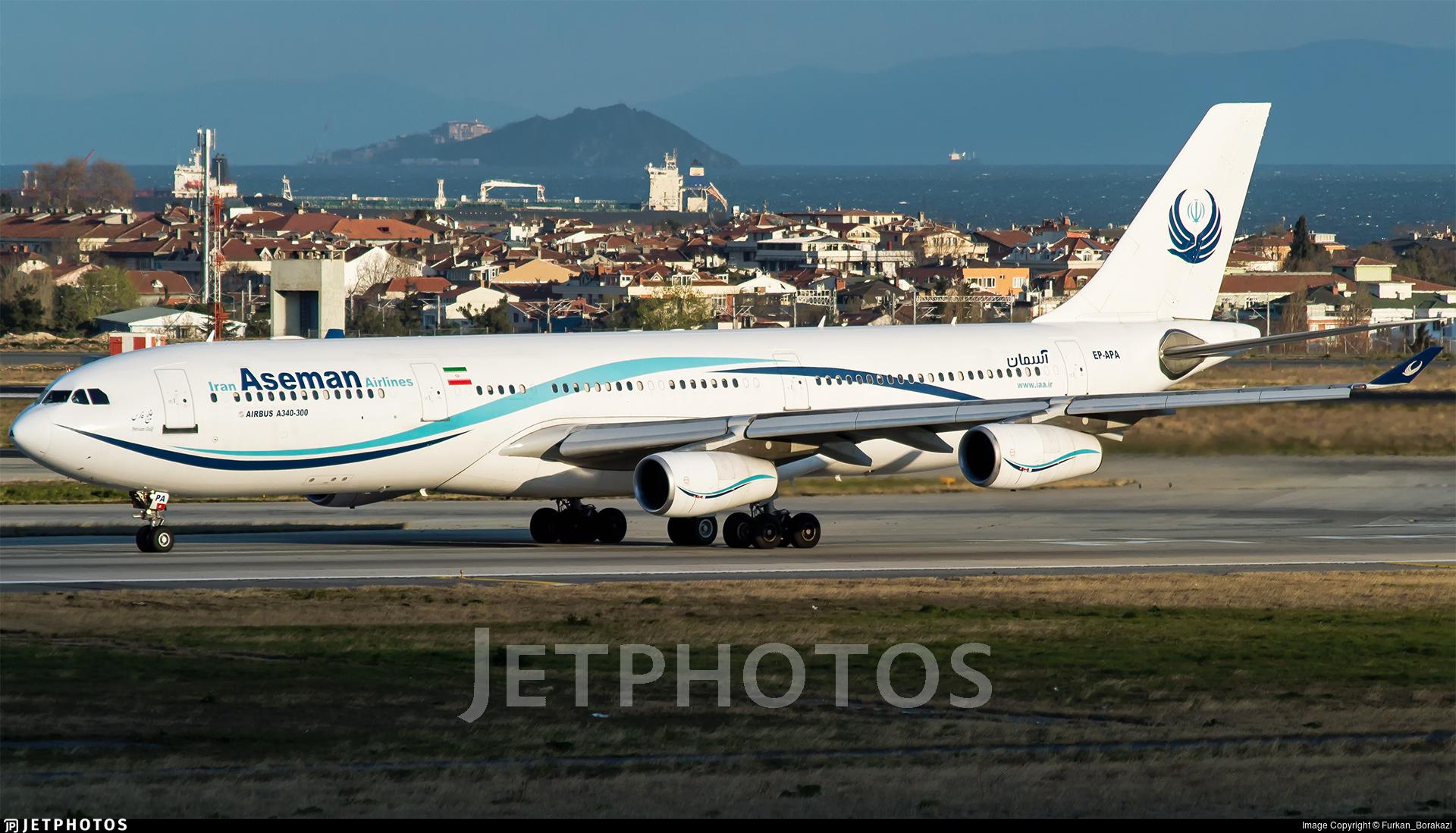 EP-APA - Airbus A340-311 - Iran Aseman Airlines