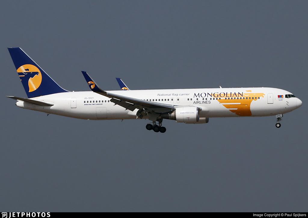 JU-1021 - Boeing 767-34G(ER) - MIAT Mongolian Airlines