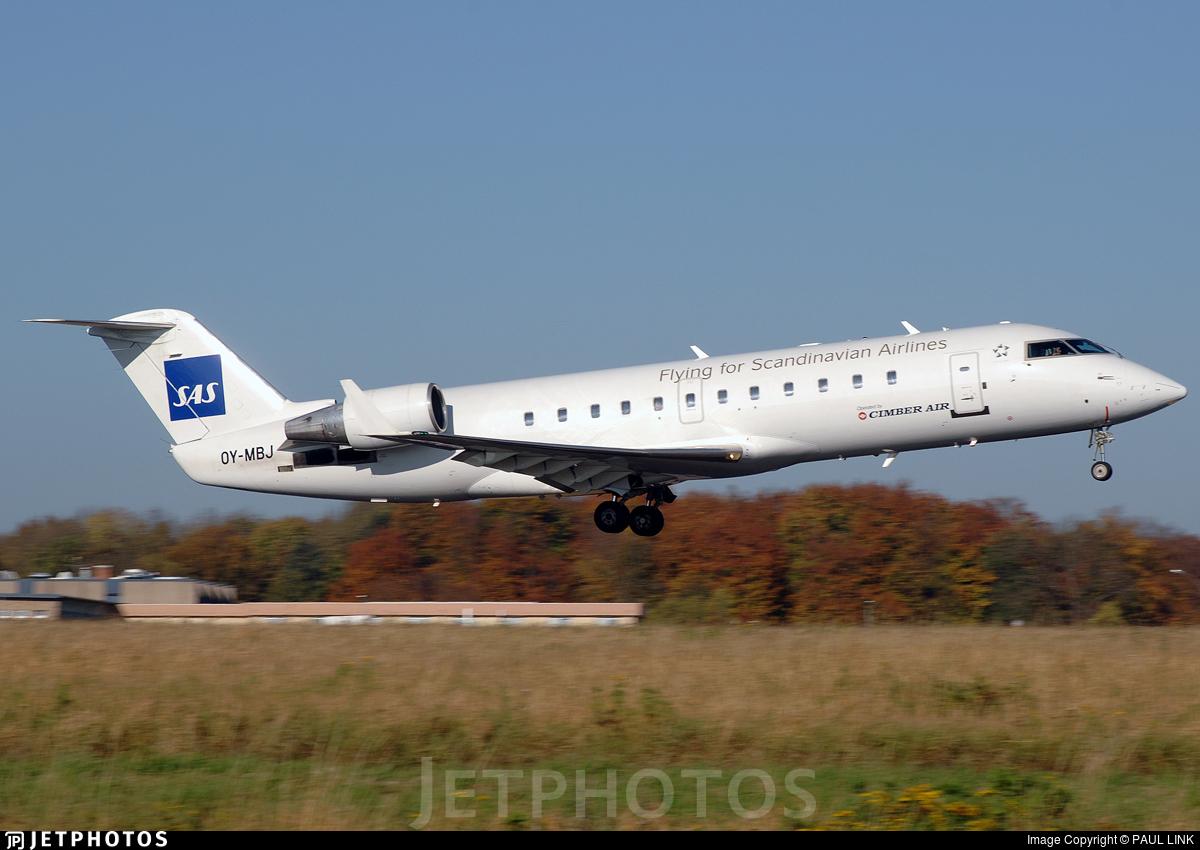 OY-MBJ - Bombardier CRJ-200LR - Scandinavian Airlines (Cimber Air)