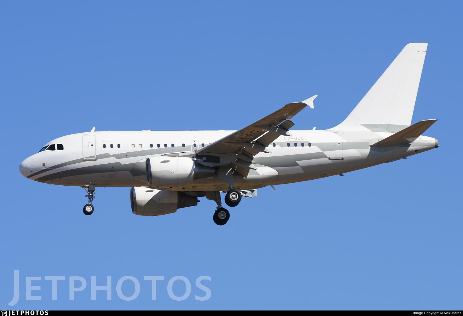 LX-GJC - Airbus A318-112(CJ) Elite - Global Jet Luxembourg