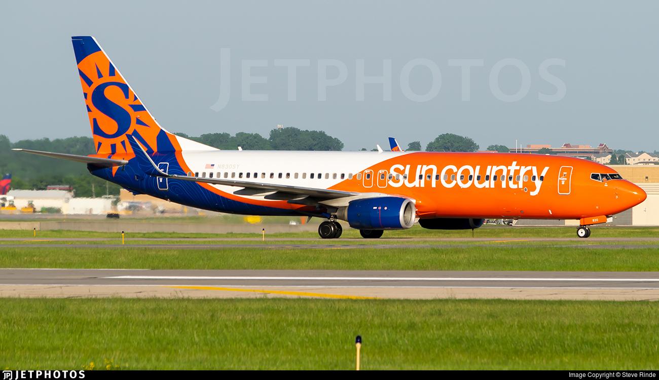 N830SY - Boeing 737-83N - Sun Country Airlines