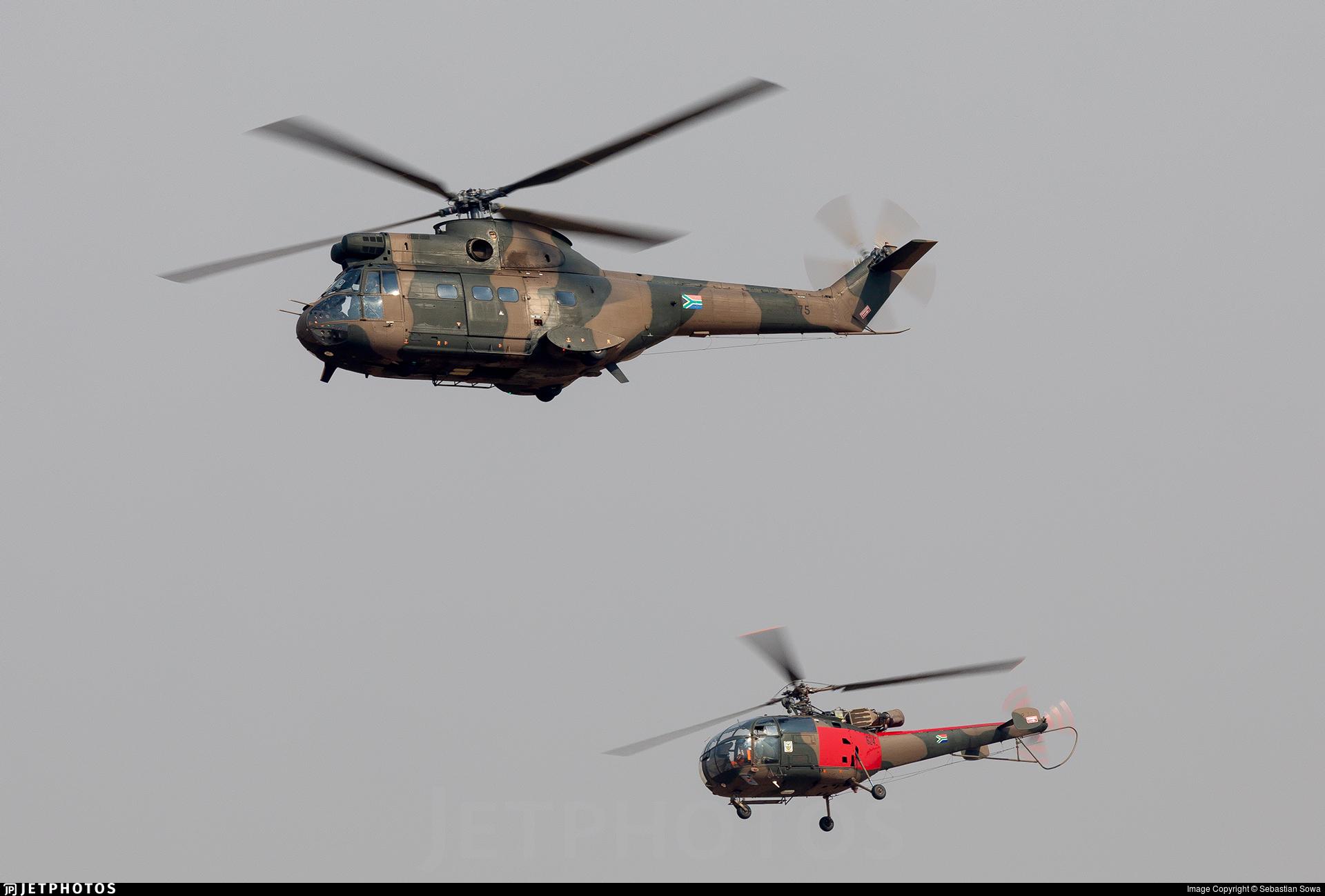 sobre Desesperado Anémona de mar  175 | Aérospatiale SA 330L Puma | South Africa - Air Force | Sebastian Sowa  | JetPhotos