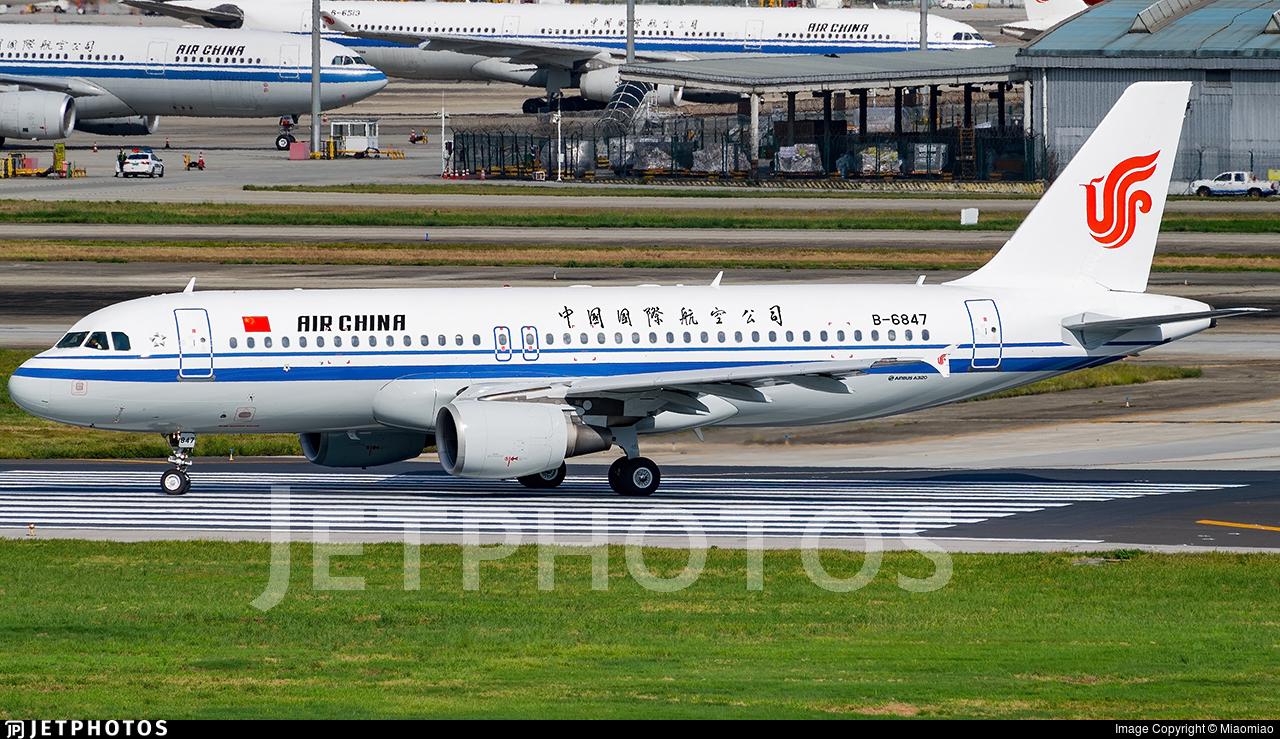 B-6847 - Airbus A320-214 - Air China